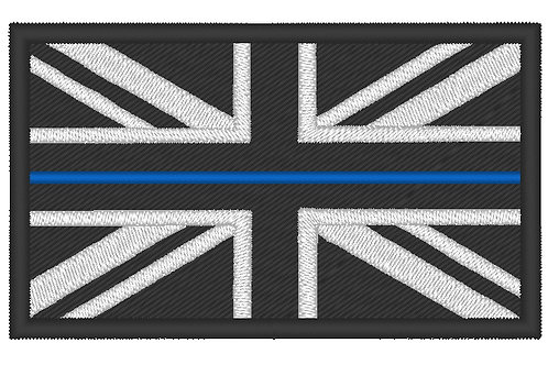 EMBROIDERED LARGE THIN BLUE LINE POLICE PERSONNEL