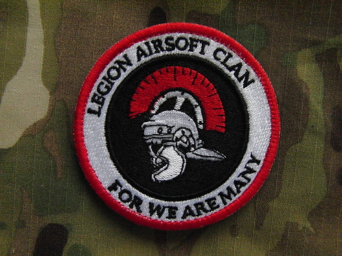LEGION AIRSOFT CLAN PATCH RED