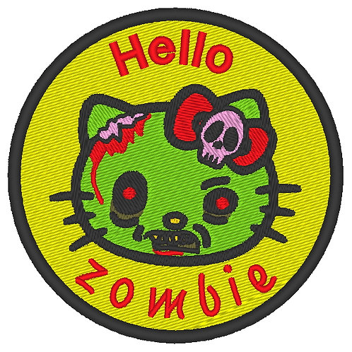 EMBROIDERED MORALE COSPLAY PATCH -  HELLO KITTY ZOMBIE