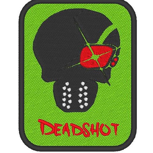 EMBROIDERED TV / MOVIE PATCH - SUICIDE SQUAD LOGO DEADSHOT