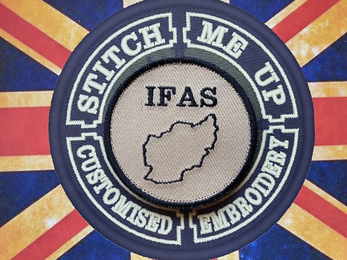 "EMBROIDERED PATCH ""IFAS"" BLUESTONE 42 PATCH"