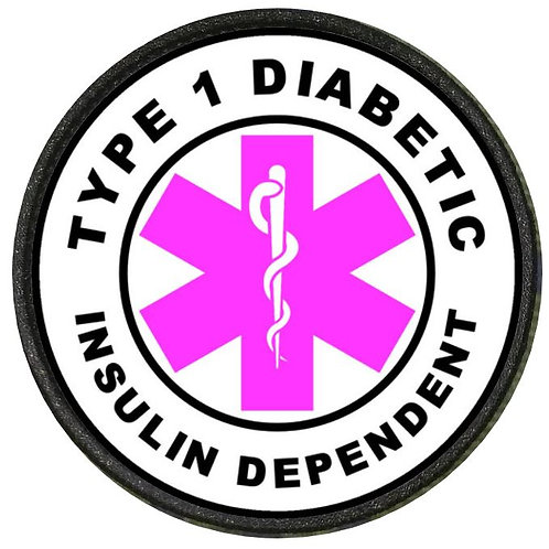 DIABETIC PATCH PINK TYPE 1 INSULIN DEPENDENT