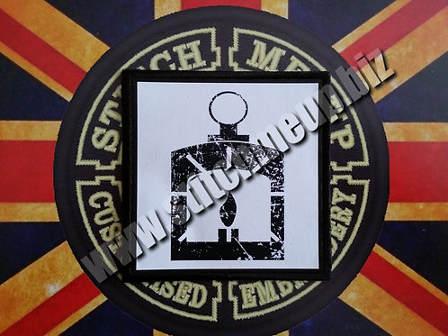 "VINYL PATCH OF  ""RAILROAD"" LOGO FROM FALLOUT"