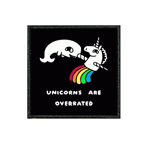 THERMAL VINYL PATCH - UNICORNS ARE OVERRATED