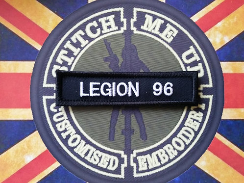 LEGION AIRSOFT CLAN NUMBERTAPE BLACK AND WHITE
