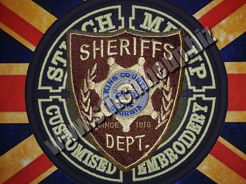 EMBROIDERED PATCH WALKING DEAD KING COUNTY SHERIFF