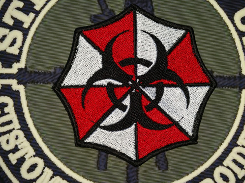 Embroidered Resident Evil Umbrella Corps Logo With Biohazard