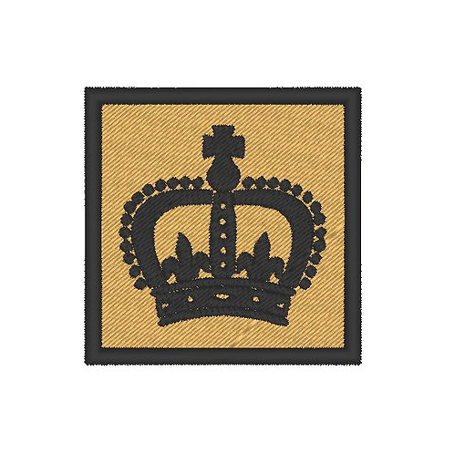 HOME DEFENCE FORCE VOLUNTEERS PATCH CROWN