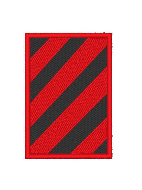 TV/ MOVIE - COSPLAY PATCH - COLONY , RED BLACK HAZARD