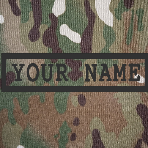 PERSONALISED EMBROIDERED NAME-TAPES IN MULTICAM
