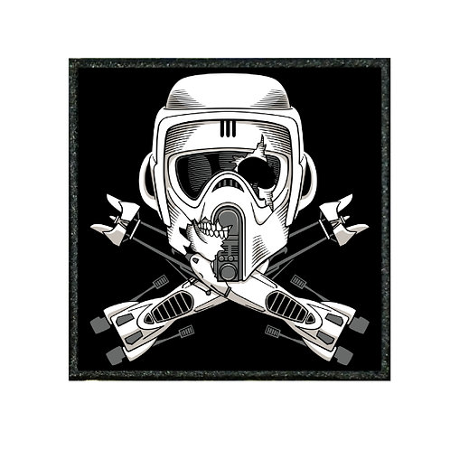 THERMAL VINYL PATCH - STAR WARS BIKER SCOUT PATCH