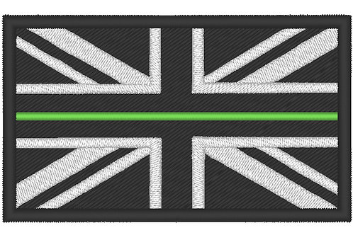 EMBROIDERED LARGE THIN GREEN LINE NHS PERSONNEL