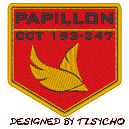 THE EXPANSE - PAPILLON EMBROIDERED  PATCH