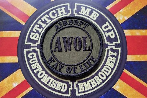 "EMBROIDERED PATCH ""AWOL"""