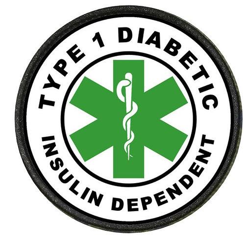 DIABETIC PATCH GREEN TYPE 1 INSULIN DEPENDENT