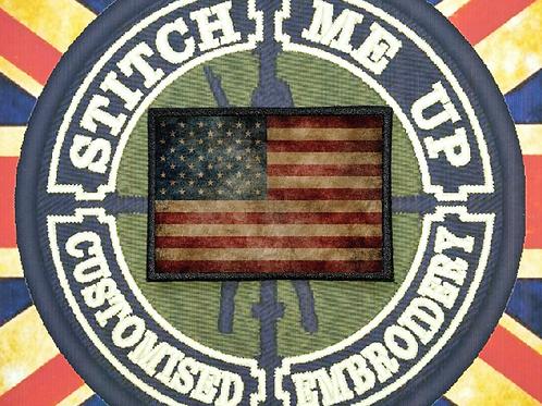 THERMAL IMAGE VINYL ARTISTIC STYLE  USA FLAG