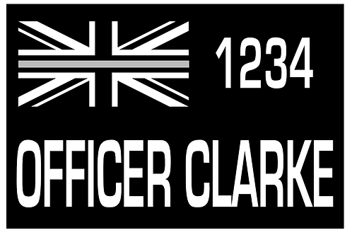 LoPro POLYFLEX 2D POLYMER PATCH - FIRE THIN SILVER LINE PERSONALISED BADGE