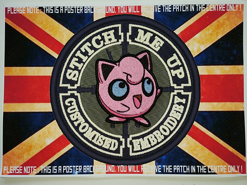 "EMBROIDERED ""JIGGLYPUFF"" PATCH FROM POKEMON"