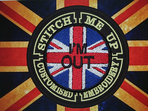 """BREXIT """"IM OUT"""" PATCH ON UNION FLAG"""