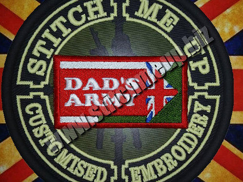 """EMBROIDERED PATCH """"DADS ARMY"""""""