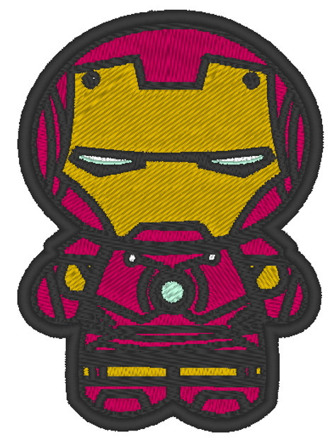 EMBROIDERED MORALE PATCH -CHIBI IRON MAN
