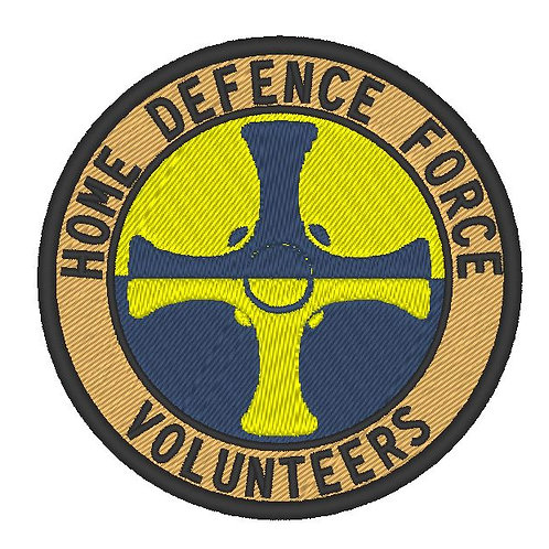 HOME DEFENCE FORCE VOLUNTEERS PATCH DURHAM DIVISION