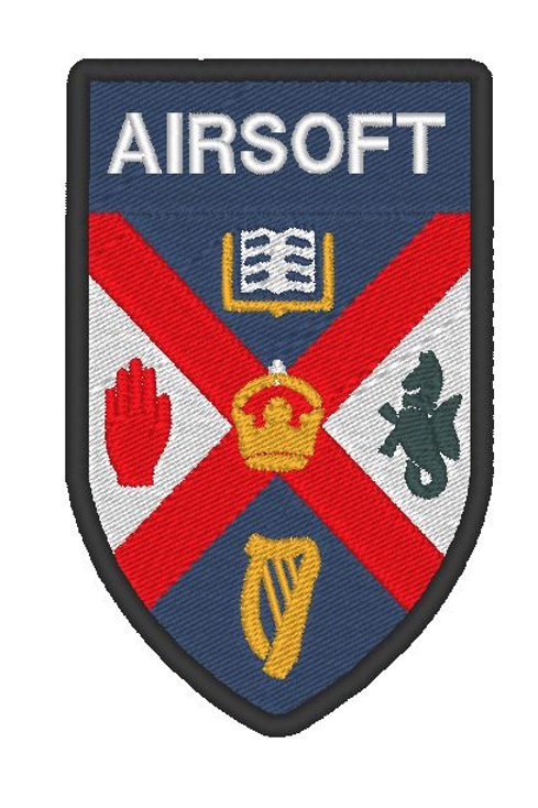 QUEENS UNIVERSITY AIRSOFT EMBROIDERED PATCH