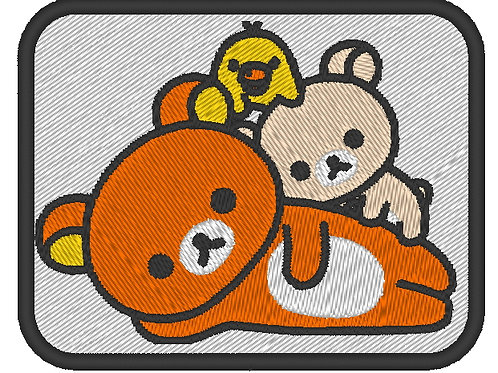 EMBROIDERED ANIME MORALE PATCH - SAN-X  RILAKKUMA CHARACTERS