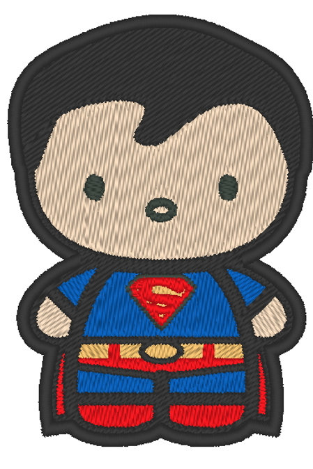 EMBROIDERED MORALE PATCH -CHIBI SUPERMAN