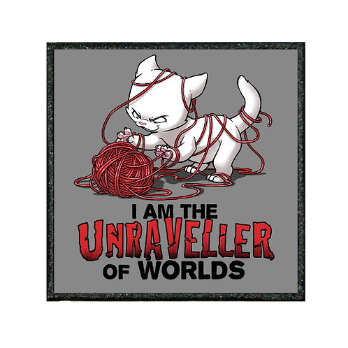 THERMAL VINYL PATCH - CAT UNRAVELLER OF WORLDS