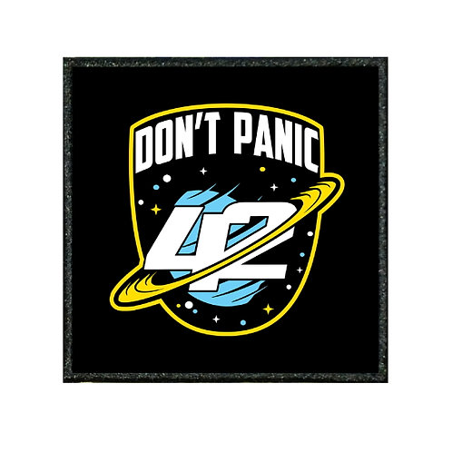 THERMAL VINYL PATCH - HITCHHIKERS GUIDE DONT PANIC