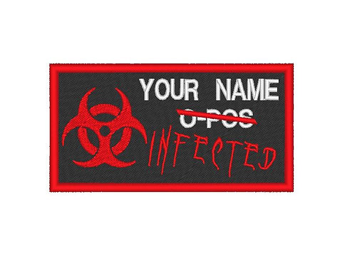 CUSTOMISABLE EMBROIDERED INFECTED PATCH