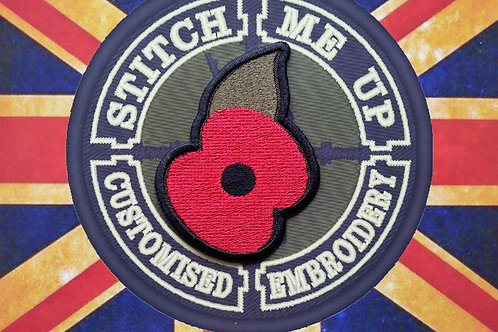 EMBROIDERED PATCH OF THE POPPY