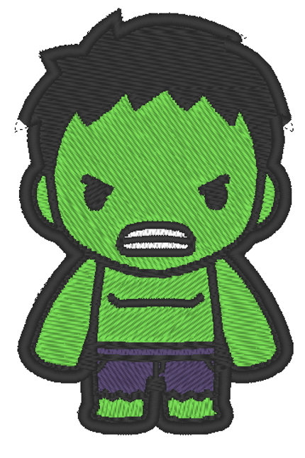 EMBROIDERED MORALE PATCH -CHIBI  HULK