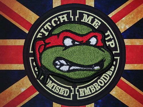 EMBROIDERED PATCH OF RAPHAEL TMNT
