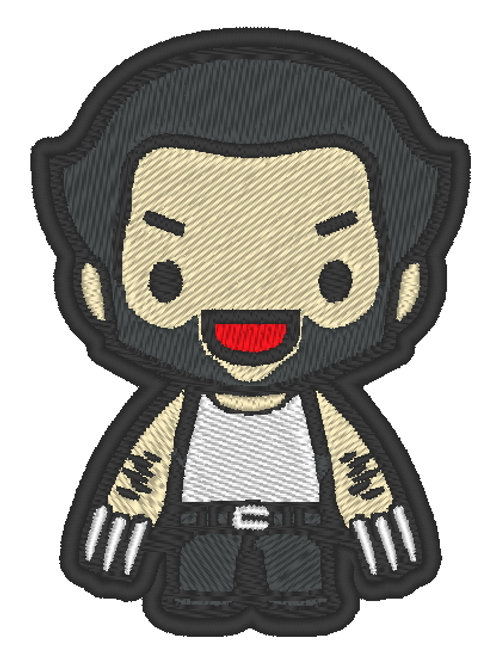 EMBROIDERED MORALE PATCH -CHIBI WOLVERINE
