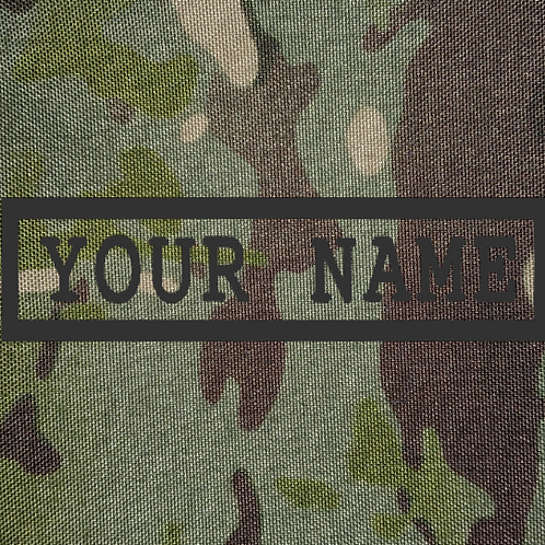 PERSONALISED EMBROIDERED NAMETAPES MULTICAM TROPIC