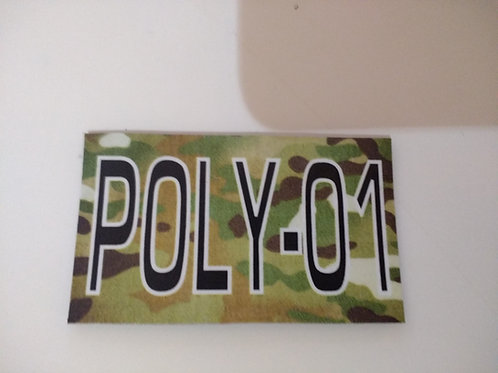 LoPro Polyflex 2D Polymer Patch - CALLSIGN PERSONALISED MULTICAM / MTP B&W TEXT