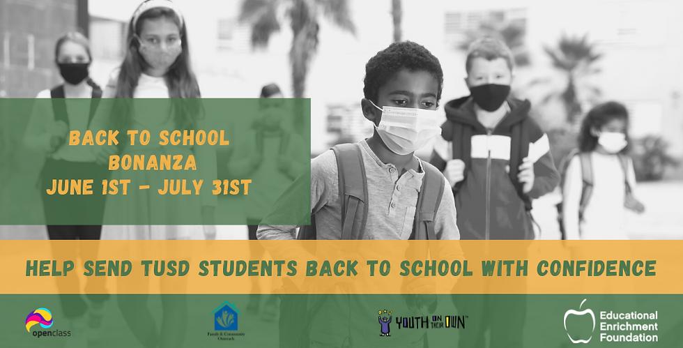 Back to school BONANZA June 1st - July 3