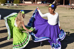 Students Dressed up for Folklore Event