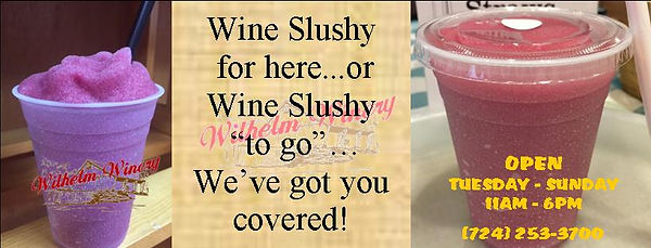 Wine Slushy for here and to go FB banner
