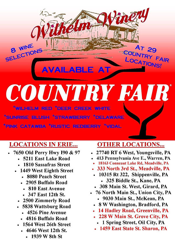 Country Fair Locations Image Updated Apr