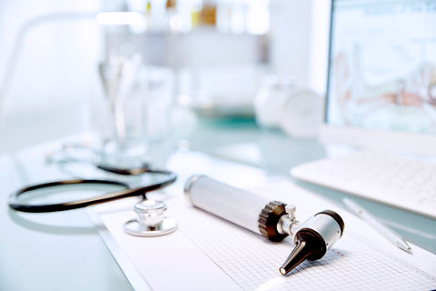 Desk with Stethoscope
