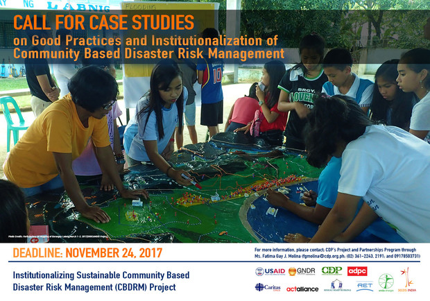 Call for Case Studies on Good Practices and Institutionalization of CBDRM