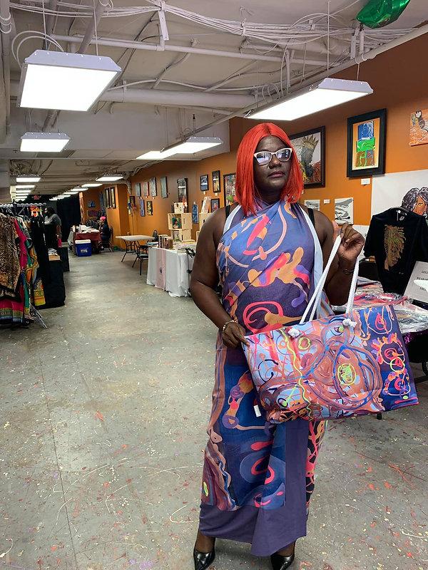aesthetics sarong and weekender tote bag