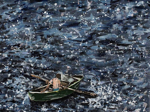 A Rowboat in the Moonlight (SOLD)
