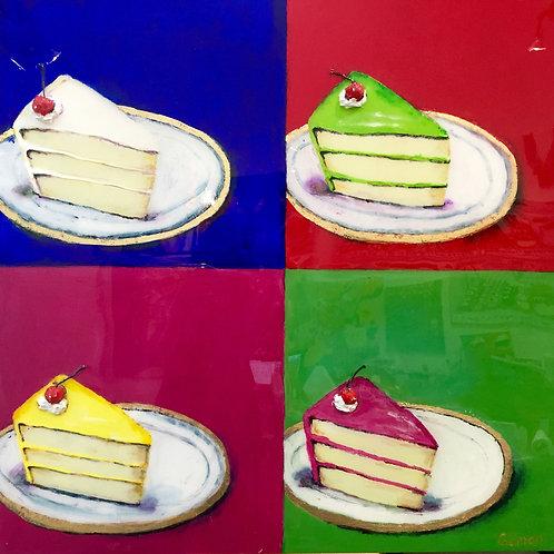 Cake Slices+ Cherry