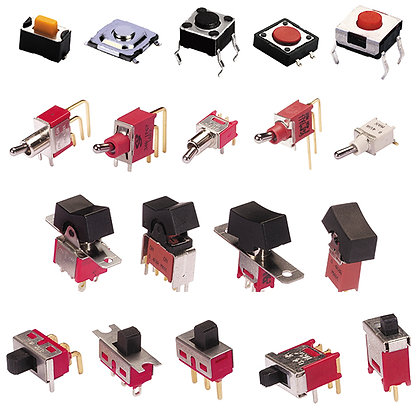 Tact, Toggle, Rocker and Slide Switches
