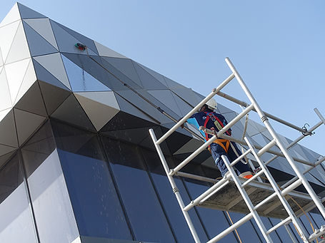 Building Facade cleaning window Cleaning Dubai, Clear Water
