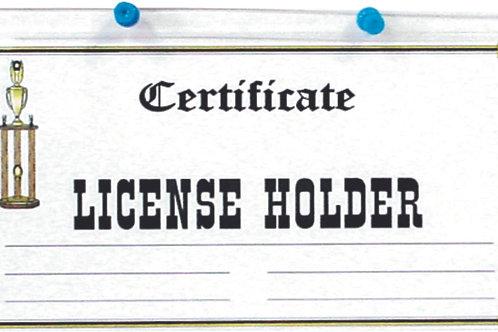 Hanging Acrylic license holder